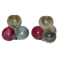 Pair, Westmoreland, Three Ball Candle Holders