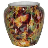 Victorian, End of Day, Multi-Colored Art Glass Vase