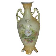 Austrian, Porcelain double Handled Vase