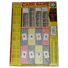 1960's, 10 Cent, Punch Board Game