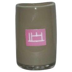 Hand Blown, Beige, Penland School of Crafts Art Glass Vase