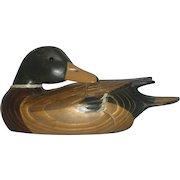 Boyd's Collection, Hunter's Mallard Sleeper 1982-87, Signed G. Lowenthal, Wooden Decoy