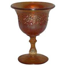 Fenton, Small, Marigold, Orange Tree Carnival Glass Compote