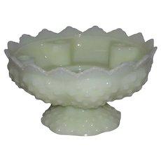 Fenton, Hobnail, Shiny Custard Candle Bowl