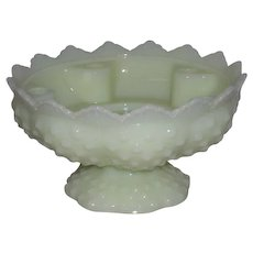 Fenton, Hobnail, Shiny Custard Candle Bowl