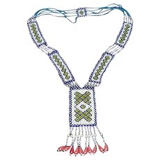 1960's, Native American, Souix, Beaded Necklace