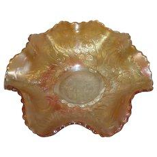 Fenton, Marigold, Pinecone, Carnival Glass Bowl