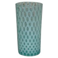 Northwood, Blue Opalescent, Polka Dot Tumbler