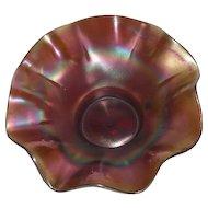 Dugan, Amethyst, Daisy Dear, Eight Ruffled, Carnival Glass Bowl