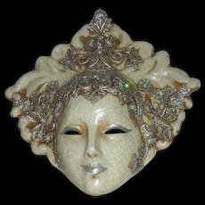 Signed, Italian, Paper Mache Mask