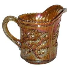 Imperial, Marigold, Lustre Rose, Carnival Glass Creamer