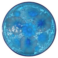 Sapphire Blue, Verlys-American, Water Lilies Charger