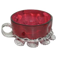 Victorian Art Glass, Red/Cranberry, Sweetmeat Nappy