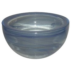 Unusual, Blue Swirl, Art Glass Bowl