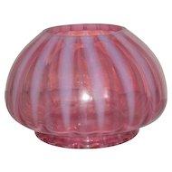 Large, Victorian, Cranberry Opalescent Rosebowl/Vase
