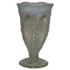 "White Opalescent, 7"" Zipper Vase"