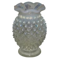 Fenton, French Opalescent, Small Hobnail Vase