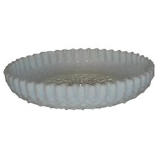 Fenton, French Opalescent, Diamond Lace Console Bowl