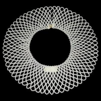 1950's, Baar & Beards Beaded Collar/Necklace W/Pearl Button Clasp