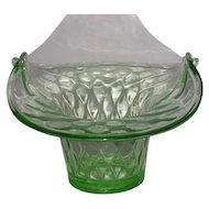 Imperial, Quilted Diamond, Uranium Glass Ice Bucket