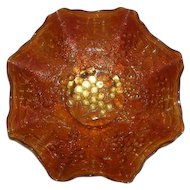 Imperial, Pumpkin Marigold, Imperial Grape Carnival Glass Bowl