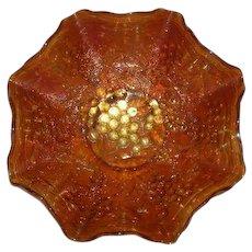 Imperial, Pumpkin Marigold, Imperial Grape Carnival Glass Bowl