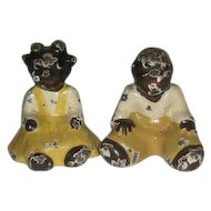Pair, Cast Iron, Black Boy & Girl Figurines
