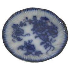 W. H. Grindley, Clifton England, Flow Blue Plate