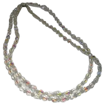 "Empress Jewels, Iridescent Crystal, 48"" Necklace"