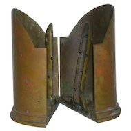 "5"" Artillery Shell, Naval Trench Art Bookends"