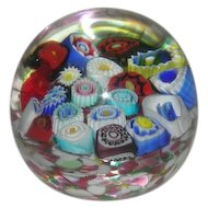 Small, Miliefiorie Art Glass Paperweight