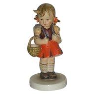 Hummel, Girl W/Basket, Porcelain Figurine