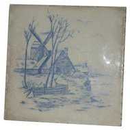 A.E. Tile Co., Hand Painted, Ceramic Tile