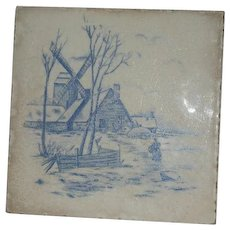 A.E. Tile Co., Hand Painted, Ceramic Tile