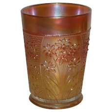 Fenton, Marigold, Bouquet, Carnival Glass Tumbler