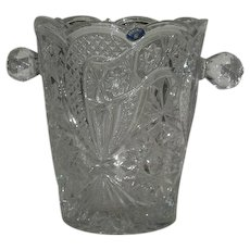 Large, Bohemia, Czech Republic, Lead Crystal Ice Bucket