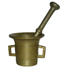Solid Brass, Mortar & Pestal