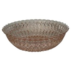 Jeanette, Pink, Holiday/Buttons & Bows Vegetable Bowl