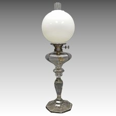Wanamaker Banquet Lamp by Fostoria with Double Wicks