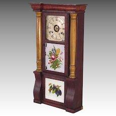 Triple Tablet Column Clock, Seth Thomas