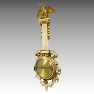 French Provencial Wall Hanging Clock, Carved Case