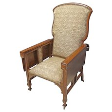 Oak Hunzinger Reclining Chair with Writing Surfaces