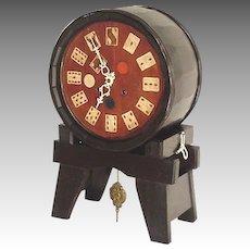 Keg Clock with Elk, Poker Chips, BPOE Allentown