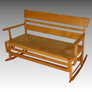 Tiger Maple Mammy Bench