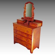 Cottage Victorian Dresser with Figured Maple