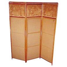 Mahogany Folding Screen
