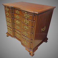 Chippendale Blockfront Chest of Drawers, Campaign Chest