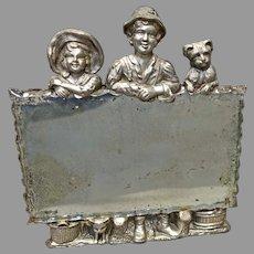 Silver Plate Figural Mirror