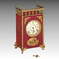 Ansonia Victorian Mantle Clock with Velvet Case