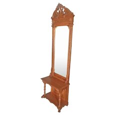 Walnut Victorian Pier, Hall Mirror